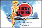 """Lucky Strike """"Für immer"""" Blechschild"""
