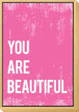 You Are Beautiful Framed Print Mount by Rebecca Peragine