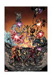 Wolverine and the X-Men 36 Cover: Iceman, Grey, Jean, Summers, Rachel, Pryde, Kitty, Cyclops Poster by Arthur Adams