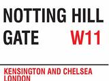 Notting Hill Gate Blechschild