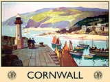Cornwall - lighthouse Tin Sign