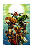 Age of Ultron 7 Cover: Dr. Strange, Thing, Hulk, Wolverine, Cable, Nick Fury, Wasp, Star-Lord Prints by Brandon Peterson