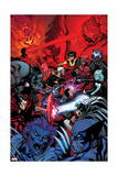 Wolverine and the X-Men 37 Cover: Wolverine, Raze, Beast, Xorn, Kymera, Deadpool, Kid Omega Prints by Ed McGuinness