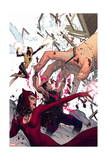 Avengers Assemble 20 Cover: Wasp, Wonder Man, Scarlet Witch Posters by Jorge Molina