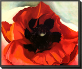 Poppy Framed Print Mount by Georgia O'Keeffe