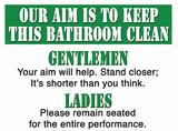 Bathroom clean Plåtskylt