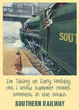 Southern Railway Early Holiday Plaque en métal