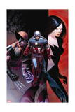 Avengers 10 Cover: Captain America, Wolverine, Validator, Michaud, Robert Prints by Dustin Weaver
