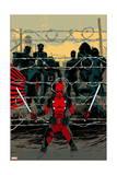Deadpool 16 Cover: Deadpool, Colossus, Sunfire, Banshee, Wolverine, Cyclops, Storm, Affiches par Declan Shalvey