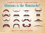 Glorious Moustache Plaque en métal