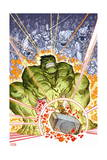 Indestructible Hulk 6 Cover: Hulk Print by Walt Simonson