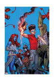 Wolverine and the X-Men 31 Cover: Mystique, Infestation, Quire, Quentin, Broo, Sauron, Kilgore Posters by Nick Bradshaw