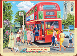 London Transport Conductors Tin Sign by Trevor Mitchell