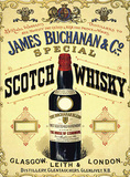 James Buchanan & Co Cartel de chapa