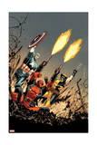 Deadpool 17 Cover: Deadpool, Captain America, Wolverine Art by Declan Shalvey