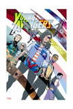 Young Avengers 8 Cover: Hawkeye, Hulkling, Loki, Marvel Boy, Miss America, Prodigy, Wiccan Prints by Jamie McKelvie