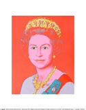 Reigning Queens: Queen Elizabeth II of the United Kingdom, 1985 Art by Andy Warhol
