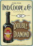 Ind. Coope Double Diamond Carteles metálicos