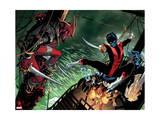 Amazing X-Men 1 Cover: Nightcrawler, Azazel, Storm, Northstar, Firestar, Wolverine, Iceman, Beast Prints by Ed McGuinness