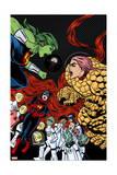 Ff 12 Cover: She-Hulk, Ms. Thing, Ant-Man, Medusa, Mik, Korr, Turg, Tong, Ahura, Vil, Wu Posters by Michael Allred
