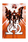 New Avengers 6 Cover: Iron Man, Black Panther, Dr. Strange, Namor, Beast, Black Bolt Posters par  Jock