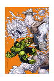 Indestructible Hulk 7 Cover: Hulk , Mjolnir, Frost Giant Posters by Walt Simonson