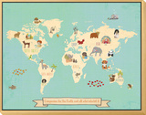 Global Compassion Map poster Framed Print Mount by Rebecca Peragine
