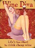 Wine Diva Plaque en métal