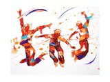 Bounce Giclee Print by Penny Warden