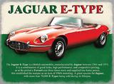 Jaguar 'E' Type Plaque en métal