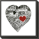 Love in 44 Languages Framed Print Mount
