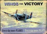 Wings for Victory - Spitfire Blikkskilt av Kevin Walsh
