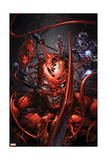 Superior Carnage 5 Cover: Carnage, Spider-Man, Wizard Prints by Clayton Crain