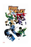 Young Avengers 5 Cover: Loki, Bishop, Kate, Noh-Varr, Wiccan, Hulkling, Ms. America Art by Jamie McKelvie