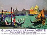 Glorious Holidays Abroad Venice Tin Sign