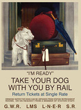 I'm Ready - White Dog Tin Sign