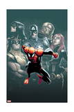 Superior Spider-Man 7 Cover: Spider-Man, Spider Woman, Wolverine, Captain America, Black Widow Prints by Humberto Ramos