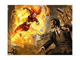 Iron Man 20 Firgure: Stark, Tony, Red Peril Print by Joe Bennett