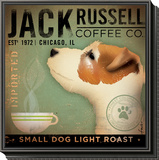 Jack Russel Coffee Co. Framed Print Mount by Stephen Fowler