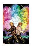 X-Factor 259 Cover: Longshot, Shatterstar, Mojo, Dazzler, Rictor, Spiral Print by David Yardin