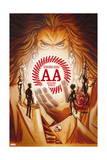 Avengers Arena 7 Cover: Acarde, Sister Grimm, Hazmat, Reptil, Kid Briton, X-23, Nara, Apex Print by Dave Johnson