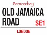 Old Jamaica Road Tin Sign