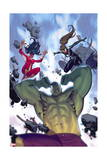 Avengers Assemble 22 Cover: Hulk, Spider Women, Spider-Girl Prints by Jorge Molina