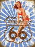 Route 66 Highway Plakietka emaliowana