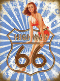 Route 66 Highway Cartel de chapa