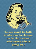 Man in Charge Tin Sign