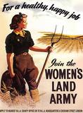 Women's Land Army - For a Happy Healthy Job Plakietka emaliowana