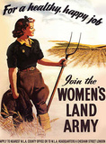 Women's Land Army - For a Happy Healthy Job Carteles metálicos