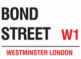 Bond Street Plechová cedule