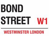 Bond Street Tin Sign